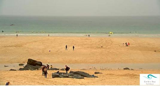 St Ives Live Porthmeor Beach Surfing Beach Weather Web Cam Cornwall