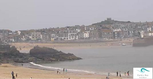 Porthminster Beach Surfing Weather Web Cam St Ives Resort Cornwall