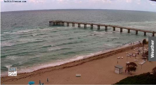 Miami Beach Pier Beach Weather Panorama Web Cam Miami Beach Resort Florida