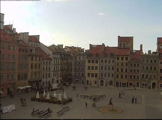 Warsaw Old Town Market Square Weather Web Cam City of Warsaw Poland