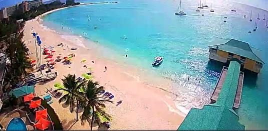 Bridgetown Live Pebble Beach Holiday Weather Webcam Barbados Caribbean