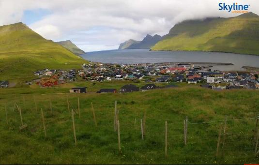 Leirvik Town Harbour Weather Cam Eysturoy Island Faroe Islands
