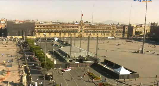 Mexico City Plaza del Zocalo City Square Webcam Mexico City Mexico