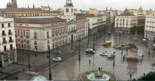 Madrid Live Puerta del Sol City Square Web Cam Madrid Spain