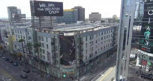 Los Angeles Downtown Live COVID-19 Lockdown Traffic Cam California