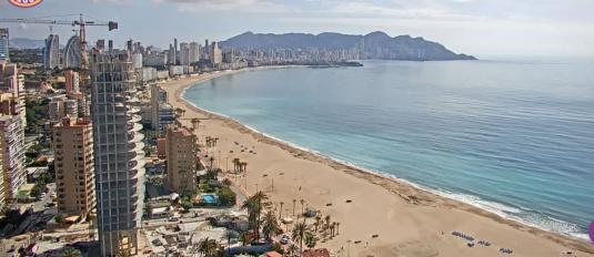 Benidorm Live Streaming Poniente Beach Panorama Beach Weather Web Cam Benidorm