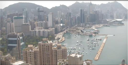 Hong Kong Downtown Live Victoria Harbour Traffic Weather Webcam Hong Kong China