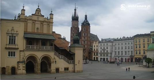 Krakow Main Market Square Live Panorama Webcam Krakow
