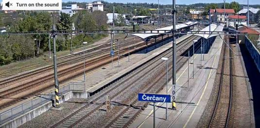 Cercany Railway Station Trains Spotting Web Cam Cercany Czech Republic