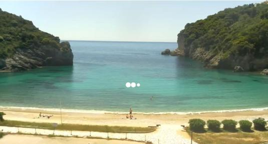 Palaiokastritsa Beach Resort beach weather web cam Island of Corfu Greece