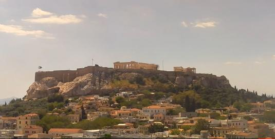 Acropolis of Athens live streaming video webcam Athens Greece